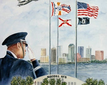 Salute, MacDill AFB Collage 11 x 15 Prints or 5 x 7 Note card  by Roxanne Tobaison