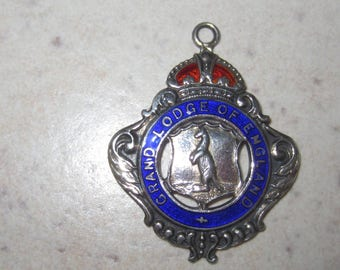 Sterling Silver and Enamel Engraved British Medal Fully Hallmarked