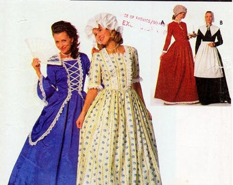 SZ 4/6/8 - Simplicity Costume Pattern 9713 - Misses' Puritan, Centennial and 18th/19th Century Costumes - Simplicity Patterns