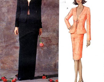 Sz 6/8/10 - Vogue Pattern 2513 by GUY LAROCHE - Misses' Fitted, Tie-Front, Collarless Jacket and Skirt in Two Lengths - Vogue Paris Original