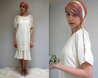 Drop Waist Dress  //   Ivory Wedding Dress  //  20s Style Dress //  THE BARONESS