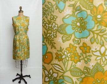 vintage 60s floral silk dress