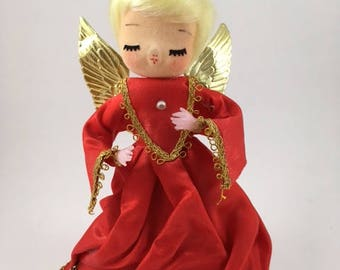 Vintage Angel Tree Topper Ornament