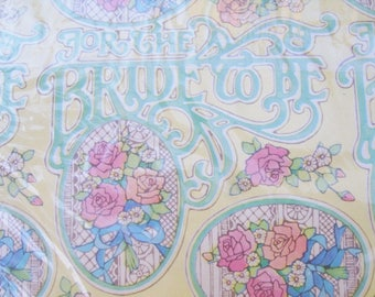 Vintage Bride to Be Shower Wedding Wrapping Paper