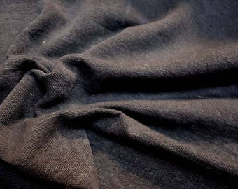 Washed Denim Black Fabric