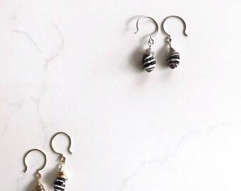 Handmade Earrings / Seashell Earrings / Sterling Silver Earrings / Wire Wrapped Earrings / Silver Dangle Earrings / Handmade Jewelry