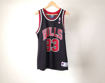 SCOTTIE PIPPEN stitched basketball vintage 90s NBA champion brand jersey
