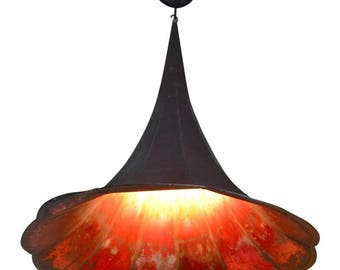 Pendant Light from Antique Gramophone Horn