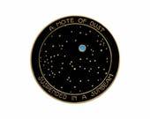 Carl Sagan Pale Blue Dot inspired enamel lapel pin