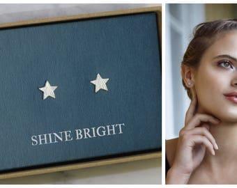 Star earrings, star stud earrings, shine bright, gift for daughter, friend gift, star studs - Astra