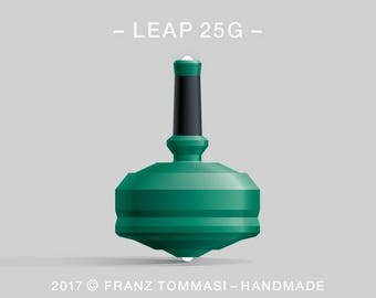 LEAP 25G Green Spin Top with rubber grip and dual ceramic tip