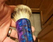 Amethyst 26mm Silvertip Badger Shaving Brush, Chunky Handled, 26 mm Custom Listing For Carlos