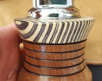 Modern Twist on a Classic Table Lighter, Cholorwood and Walnut