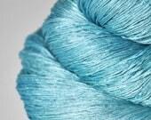 Melting blue glacier - Silk Lace Yarn