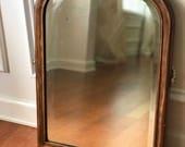 Antique Wall Mirror Rustic Vintage Wood Mirror Framed Vintage Rustic Hanging Vanity Boudoir Mirror Decorative Bathroom Decor RhapsodyAttic