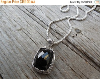 ON SALE Onyx necklace handmade in sterling silver
