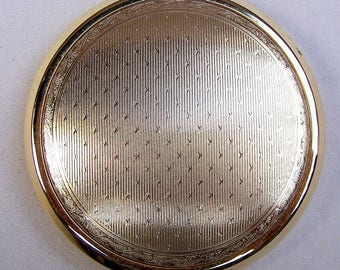 Stratton powder compact 1980s purse compact, vintage makeup accessory vanity storage dress accessory