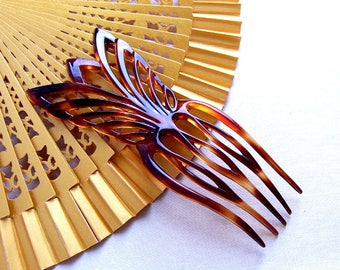 Hair comb Art Deco geometric hair accessory headdress headpiece hair pick hair fork hair pin decorative comb