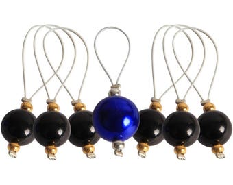 Zooni Stitch Markers W/Colored Beads 7/Pkg - 800182