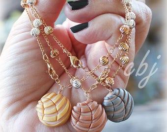 Concha Bracelet, Pan Dulce Bracelets, Rose GOLD Concha, ROSE GOLD Pan Dulce, Gold Filled
