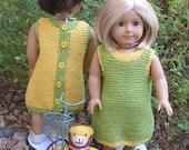 School Jumper Doll Knitting Pattern