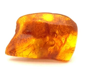 Amber Baltic Stone Genuine 5.16 Gr Vintage Honey Cognac Color Freeform