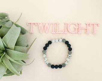Twilight Essential Oil Diffuser Bracelet Lava Bead Essential Oils Bracelet