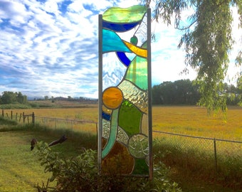 STAINED GLASS GARDEN Stake  Art for your yard