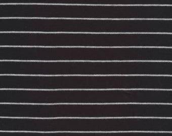 Organic KNIT Fabric - Cloud9 2017 Knits - Stripes Black