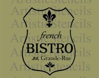 STENCIL French Bistro  10x7.5