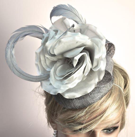 Fascinator, Headpiece, Wedding Hat, Wedding Fascinator, Kentucky Derby Hat, Ascot Fascinator, Derby Fascinator, Gray Fascinator, Percher