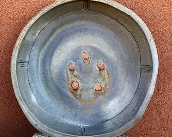 Large Serving Bowl, Wood Fired Pottery Centerpiece, Wheel Thrown, Southwest Art, Southwestern Home Decor, Stoneware Platter, Table Decor.