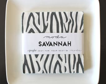 "Savannah by Gingiber for Moda Charm Pack 5"" Squares"
