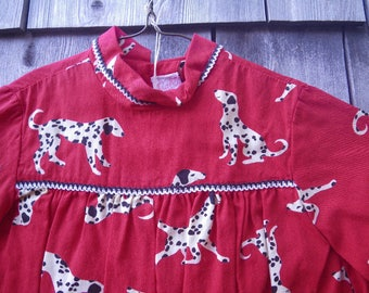 Ruth of Carolina Dalmatians Dress for Toddler Girl Spotted Dogs 1960s