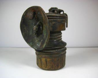 Guy's Dropper Antique Coal Miners Mining Lamp Lantern Brass Pre-1940s
