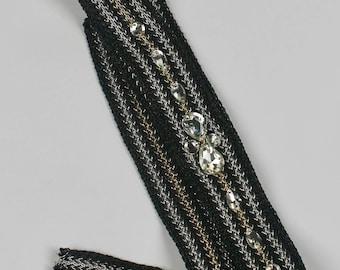 Bridal Accessories,Rhinestone Headband,Bridal Headband,Crystal Headband, Cahnel Style Accessories,Jeweled Headband,Ribbon Headband