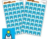"Sunshine sticker sheet, 80 square weather stickers for your planner, diary or calendar, 12mm / 0.5"" weather icons"