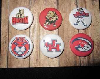 University Of Houston Pin Back Buttons, University Of Houston, Pins, Magnets, University Of Houston Cougars, Pin Back Buttons