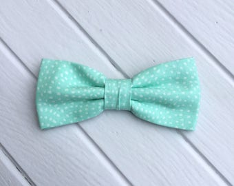 Dusty Mint Spotted Bow tie, Spotted Bow Tie, Bow tie for Wedding, Mens Bow Tie, Kid Bow tie, Bow Tie for Groom & Groomsmen
