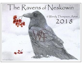 Raven calendar 2018 | Etsy