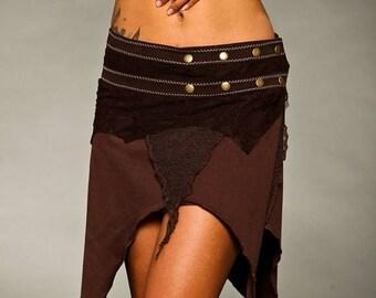 BIG SUMMER SALE 25% Off Skirt - Lush Layers Wrap Around Pixie Skirt - burning man - boom festival - women's clothing - psytrance goa skirt -