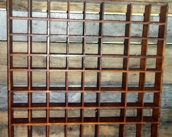 Shadowbox Large Vintage Wall Hanging Shadowbox Shadow Box Doodad Collectibles Shelf Shelves Retro Home Decor