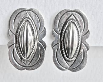 Vintage Mexican Silver Earrings LOS BALLESTEROS Silver Earrings Coffebean Design 1930s 1940s Signed Taxco Mexico Antique Mexican Jewelry 925