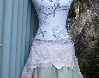 midsummer night's dream skirt - short hippy skirt - arty - alternative - boho - s / m