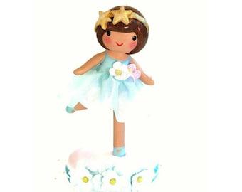 Twinkle Twinkle Little Star, Cake Topper, Baby Shower, First Birthday, Little Girl Birthday, Ballerina Party, Ballerina Cake Topper, Clay