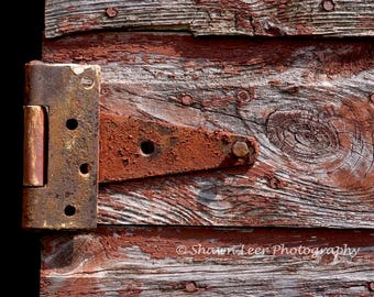 Rust and Red Barn Door Hinge