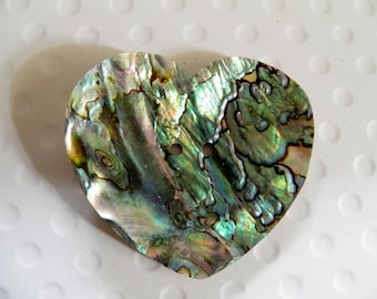 MOP Abalone Shell Large Heart Button 2.5 Inch