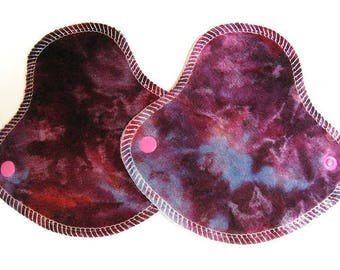 """TWO HalfWrap Reusable Cloth Liners - breathable - """"ice dye"""""""