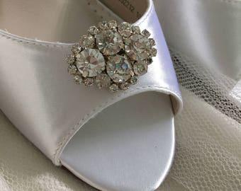 Sale Wedding Shoe Clips - Crystal Wedding Shoes - Bridal Shoe Clips - Wedding Shoes - Wedding Heels - Shoe Clips - Custom Wedding Shoe Clip