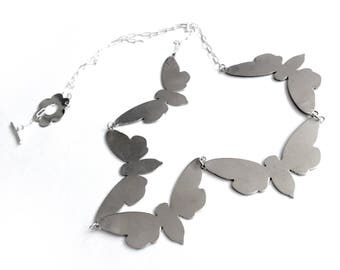 "5 Cicada ""paper chain"" necklace (N-SS5C)"